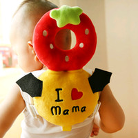 Wholesale head harness ring - Baby Toddler Headrest Pillow Infant Walking Head Back Protection Protector Safety Pad Harness Cushion Toys for 0-8month