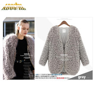 Wholesale Womens Shawl Coat - Adogirl 2016 Autumn Winter Female Lambs Wool Coat Shawl Fashion Newest Womens Capes And Ponchoes Ladies Vintage Warm Costs
