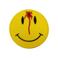 Wholesale fun shoots - Yellow Shot Smiley Fun Embroidered Iron On Or Sew On Patch For Front Lady Biker, 3*3 INCH Free Shipping