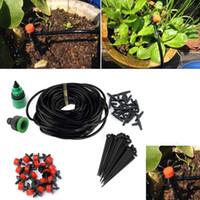 Wholesale diy drip hose online - Hot Sale m DIY Drip Irrigation System Automatic Plant Self Watering Garden Hose Micro Drip Garden Watering System