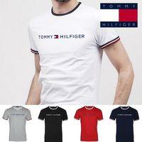 markalar t shirt man toptan satış-2019 casual T-shirt klasik markalar POLO beyefendi tarzı ceket kısa kollu POLO erkek giyim mektup grafiti baskılı yüksek moda T-shirt