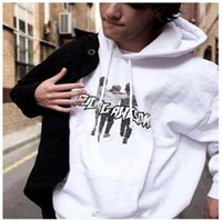 Wholesale Men Awesome - Autumn Newest Fucking Awesome Printed Hoodies Men's Fleece Hooded Sweatshirts Fashion Solid Pullover Black White Red Hoody For Sale