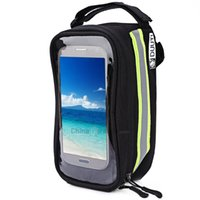 Wholesale touchscreen case - DUUTI Bicycle Frame Tube Panniers Waterproof Touchscreen Phone Case Reflective Bag