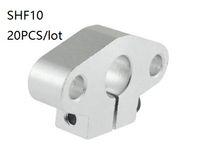cnc lineare stange groihandel-20pcs / lot SHF10 10mm lineare Schienenauflager lineare Schiene Welle Linearschiene Stabauflagers Unterstützung für die CNC-Router 3d Druckerteile tragende