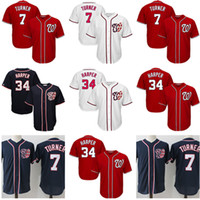 Wholesale nationals baseball online - 7 Trea Turner Washington Nationals Jersey Men stitched Baseball Jerseys Cheap