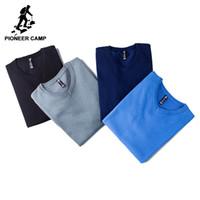 v-pullover herren großhandel-Pioneer Camp 2018 neue Herren Pullover famouse Marke Pull Homme Pullover Männer Casual Freizeit Jersey Hombre Baumwolle V-Ausschnitt plus Größe S917