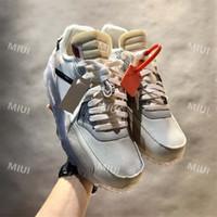 dimensionamento dos eua venda por atacado-Venda quente Zip Tie 1990 90 Azul De Gelo 10X Mulheres Homens 90 Sapatos Casuais para Mulheres Homens Oregon EUA Cystal Sneakers Tamanho 40-45