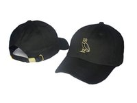 Wholesale Roses Free - 2018 Embroidered Glastonbury Unstructured dad hat yeezu boost 350 750 Unreleased Kanye Hat casquette sun rose cap 6 god pray ovo rodeo Cap