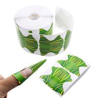 ingrosso carta adesiva acrilica-New Fashion 500pcs vassoio di carta forma quadrata adesivo forma del chiodo per acrilico UV Nail Art Sticker Pro Roll
