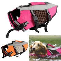 lebensschutzjacke großhandel-Klassische Schwimmweste für Hunde Westen Hundewelpen Sommer Sicherheitskleidung Schwimmhilfe Bademode Kleine Schwimmweste für Hunde Heimtierbedarf