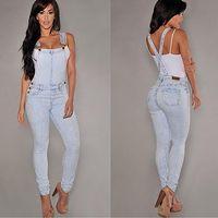 spandex горячие штаны плюс размер оптовых-Women Sexy Slim Fit Baggy Loose Jeans Denim Overalls Pants Jumpsuit Rompers
