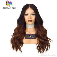 tonlar ombre saç 27 toptan satış-Ön Dantel Peruk Doğal brezilyalı İnsan Virgin saç ombre iki ton 1b 30 27 altın kahverengi sarışın peruk işlenmemiş doğal saç çizgisi peruk ABD