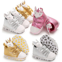 Wholesale newborn size leather walkers for sale - Group buy New Baby unicorn shoes Spring Autumn Fashion Kids infant First Walkers newborn Walkers shoes colors C5417