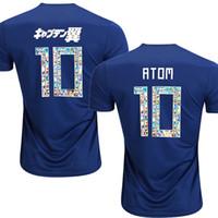 Wholesale japan 18 - 2018 japan TSUBASA version soccer jerseys Japan World Cup ATOM 18 19 Home Away KAGAWA ENDO OKAZAKI NAGATOMO KAMAMOTO Football shirt