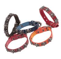 rindsleder-armband-schnalle großhandel-5 Farbauswahl 100% Rindsleder Schädel Gürtelschnalle Armband Farbe Lederarmband für Männer Frau Liebhaber Armband 12pcs / lot