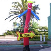Wholesale eyes puppet resale online - Eye catcher inflatable sky puppet wind men dancer wavy arm guy promotion arrow dancers for self store advertising