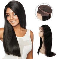 Wholesale Beauty On Line Sale Straight Indian Human Hair Lace Front Wig Inch Plucked Straight Human Virgin Hair Straight Swiss Lace Frontal Wigs