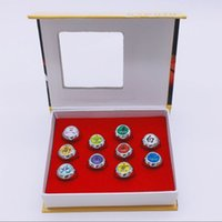 Wholesale cosplay anime naruto hot for sale - Hot Sale Japanese Anime Toys Naruto Cosplay Akatsuki Member Ring Uchiha Itachi10 Set for Christmas Gifts