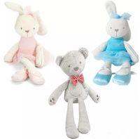 белые медведи куклы оптовых-10 Стиль 42 см дети Пасхальный Кролик медведь плюшевые игрушки Детские белый и бежевый мягкий Кролик спать мягкие куклы малыш игрушки дети подарок B11