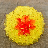 stützen spielzeug groß großhandel-Tanz Requisiten Gestickten Regenschirm Bühne Führen Fallschirm Kleines Spielzeug Dekorieren Regenschirme Große Welle Ethnischen Stil Tanzen Handwerk Prop 28sz2 Y