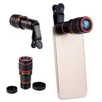 Wholesale Cell Phone Telescope Lens - 8X Zoom Telephoto Lens Camera Lenses Telescope Mobile Phone Lentes For Samsung galaxy S6 edge S8 Cell Phone