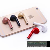 Wholesale Invisible Wireless Mini Earphone - HBQ I7 mini Bluethoot Headphone Twins TWS Earbud Earphone Wireless Invisible Headphone Headset Mic CSR4.1 Stereo Upgraded for iphone Android