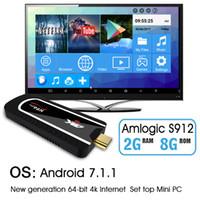 tv андроиды палочки оптовых-Н96был про мини-ПК коробка Amlogic S912 восьмиядерный 2Г 8г беспроводной доступ в интернет медиа-плеер 4 к полный HD 2.4 г андроид 7.1 ТВ приставка Смарт-ТВ приставка
