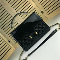 Wholesale paris ladies handbags for sale - Group buy New brand luxury handbag designer handbag high quality patent leather Paris catwalk ladies shoulder bag Cross Body bag