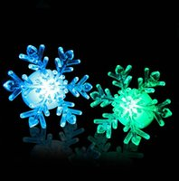 Wholesale acrylic snowflakes - Snowflake Shape LED Light Push Button Type Acrylic Night Lamp Romantic Colorful Energy Saving Lights For Christmas Decor 1 3gl B