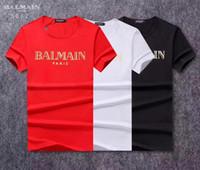 neue musterhemden männer großhandel-2018 neue Mode Brust Stickerei Wolf Männer T-Shirt Kurzarm Casual T-shirt Hipster Fraktal Muster Tees Cool Tops Männer # 918