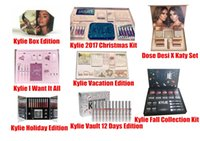 Wholesale Gift Size Boxes - Newest Kylie Lip Kit by kylie jenner Velvetine Liquid Matte 12 Days Vault Makeup Holiday Big Box I WANT IT ALL The Birthday Collection Gift