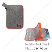 Wholesale digital silk fabric - Waterproof Ipad organizer USB data cable earphone wire pen power bank travel storage bag system kit case digital gadget devices