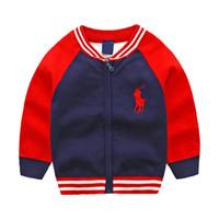 manteau patchwork pour garçons achat en gros de-Nouveaux Enfants Haut Vêtements Coton Bébé Pull de Haute Qualité Enfants Vêtements Fille Chandail Garçon Pull À Col V Pulls manteau