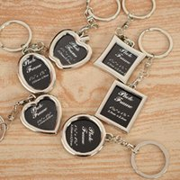 keychain picture NZ - HOT Keychain Frames Creative Metal Alloy Insert Photo Picture Logo Artworks Frame Keyring Keychain Fob Best Love Gifts