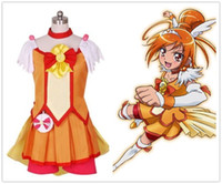 Wholesale precure costumes for sale - Smile PreCure Glitter Force Hino  Akane Cure Sunny Dress Cosplay 8166ccc746b1