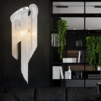 Wholesale porch lighting for sale - Group buy Chain Light Modern Wall Lamp Tassel Aluminum Chain Wall Bracket Light Silver Wall Sconces Lighting Aisle Lamp Hallway Porch Lights
