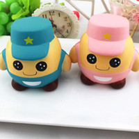 Wholesale Doll Phones - Squishy Solider Cartoon Solider Doll Toys Squeeze Slow Rising Phone Strap Home Decor Cream Scented Kid Toy Gift