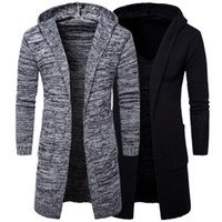 Wholesale Thick Hooded Cardigan Sweater - 2017 new men's hooded thick cardigan sweater jacket trend of European and American tide knit sweater