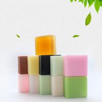 ingrosso sapone lavanda fatto a mano-Pura naturale botanica sapone a mano controllo olio pulito carbone di bambù lavanda rosa quadrato saponi inquinamento e glicerolo gratis 2 4zt jj