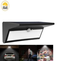 Wholesale one security for sale - Group buy Solar Lights Outdoor Wireless Motion Sensor lm mode in one Wall Lighting Waterproof Security Light for Patio Garden Yard Deck