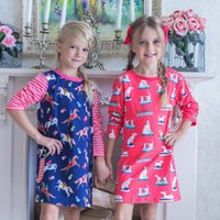 Wholesale christmas designer kids dresses online - Fashional Baby Girls Dress Designer Princess Dress Girl Clothes Kids Dresses for Girls Costumes Animal Print Kids Clothing