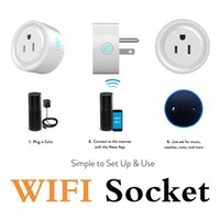 Wholesale Plugs Outlet - Wifi smart plug Wifi smart socket mini smart outlet remote controlled work with Echo Alexa Google Home with timing function