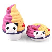 les chaînes de bob marley achat en gros de-16cm Jumbo Kawaii Squishy Charms Panda Ice Cream spongieuses Rising Déballez lente l'enfant jouet Squeeze Téléphone Ecraser Juguetes