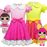 Wholesale lotus doll for sale - 3 Style Girl cartoon doll dress children s lotus leaf princess dress Halloween performance clothes children s cosplay clothes H115