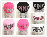 Wholesale pink pointer - PINK ladies drill pointer cowboy diamond male and female sun hat multi-color PINK point drill cowboy baseball cap brand hat B11