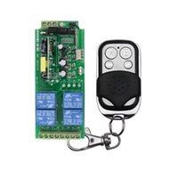 дистанционная система оптовых-AC 85 в~250 в 110 В 220 В RF 4 CH широкий напряжение беспроводной пульт дистанционного управления переключатель системы приемник передатчик