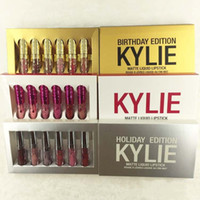 Wholesale kylie lipstick holiday edition for sale - In stock Kylie Jenner holiday Birthday Valentine s day Edition Lip Kit Matte Liquid Lipsticks set mini kylie lipgloss kit