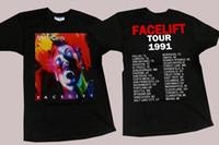 cadeias de alice venda por atacado-Vintage 1990 Alice In Chains Facelift Tour banda rock T-shirt Preta Para Os Homens S-2XL Para Masculino / Menino T-Shirt Stephen Curry Jersey Streetwear