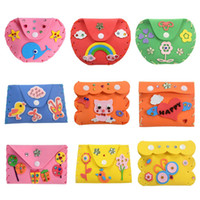 ingrosso puzzle adesivo eva diy-Fai da te 3D EVA Foam Sticker Bambini Cartoon Wallet Purse Puzzle Bambino Craft Toy Kit bambini Early Learning Education Toys
