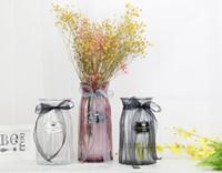fischpflanzer großhandel-Farbige Glasvase transparent Origami Vase Blumen Inserter kreative moderne minimalistische Dekoration Schmuck Tabletop Vase